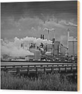 Paper Mill Wood Print by Williams-Cairns Photography LLC