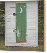 Paper Moon Outhouse Wood Print