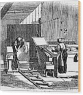 Papermaking, 1833 Wood Print by Granger