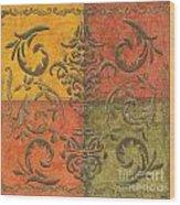 Paprika Scroll Wood Print