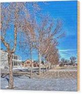 Parade Grounds - Fort Laramie  Wood Print