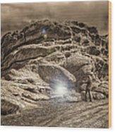 Paranormal Rockies Wood Print
