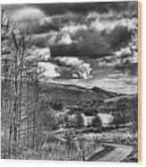 Parc Cwm Darran Mono Wood Print