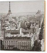 Paris: Aerial View, 1900 Wood Print