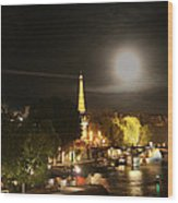Paris At Night Wood Print