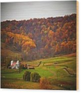 Paris Barn In Autumn Wood Print