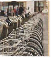 Paris Bikes Wood Print by Igor Kislev