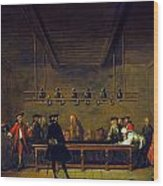 Paris: Billiards, 1725 Wood Print