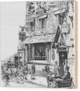 Paris: Cafe, 1889 Wood Print