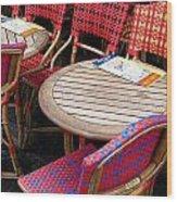 Paris Cafe Wood Print by Tony Grider