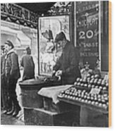 Paris: Chestnut Vendor Wood Print