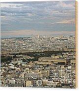 Paris City View Wood Print
