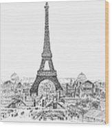 Paris Exhibition, 1889 Wood Print