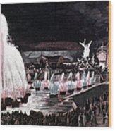 Paris: Fountains, 1889 Wood Print