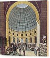 Paris: Halle Au Ble, C1785 Wood Print