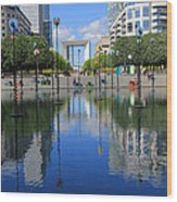 Paris La Defense 3 Wood Print