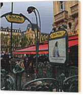 Paris Metro 1 Wood Print