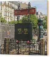 Paris Metro 3 Wood Print