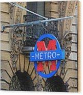 Paris Metro 5 Wood Print