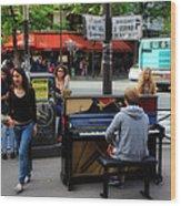 Paris Musicians 2 Wood Print