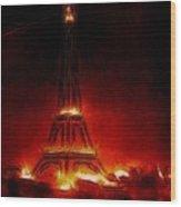 Paris Nights Wood Print
