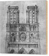 Paris: Notre Dame, 1848 Wood Print