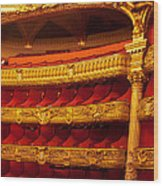 Paris Opera House Iv   Box Seats Wood Print