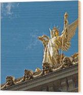 Paris Opera House V   Exterior Facade Wood Print