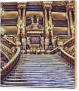 Paris Opera House Vii  Grand Stairway Wood Print