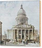 Paris: Pantheon, 1835 Wood Print