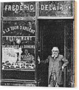 Paris: Restaurant, 1890s Wood Print