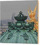 Paris Rooftops 1 Wood Print