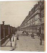 Paris: Rue De Rivoli, C1900 Wood Print