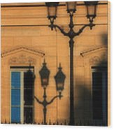 Paris Shadows Wood Print