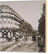 Paris: Street Scene, 1890 Wood Print