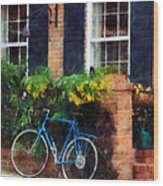 Parked Bicycle Wood Print