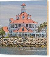 Parker's Lighthouse Shoreline Village Wood Print