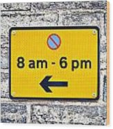 Parking Sign Wood Print