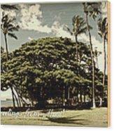 Parkside Postcard Wood Print