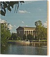 Parthenon At Nashville Tennessee 1 Wood Print