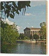 Parthenon At Nashville Tennessee 10 Wood Print by Douglas Barnett