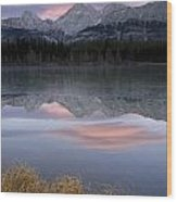 Partially Frozen Spillway Lake At Wood Print