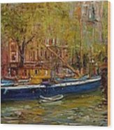 Party Boat Amsterdam Wood Print