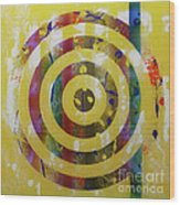 Party- Bullseye 2 Wood Print by Mordecai Colodner