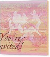 Party Invitation - General - Wild Azalea Blossoms Wood Print