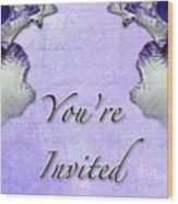 Party Invitation - General - Wild Iris - Blue Flag Wood Print