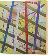 Party-stripes-1 Wood Print by Mordecai Colodner