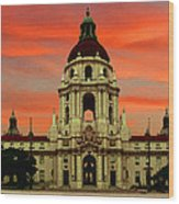 Pasadena Sunrise Wood Print