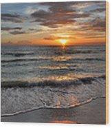 Pass-a-grille Beach Sunset Wood Print