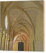 Passageway In A Monastery  Wood Print